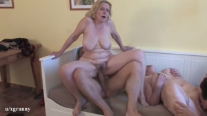 Hot matures and lucky guy