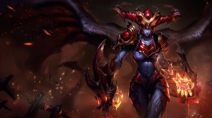 Animated Shyvana Wallpaper with X-ray