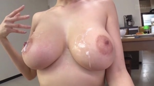 Cum splattered tits