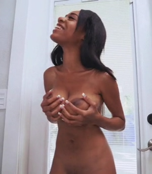 Brittney White playing with her tits