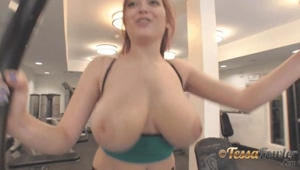 Boobs getting a work out