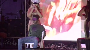Ashanti is very hands-on at her concerts these days