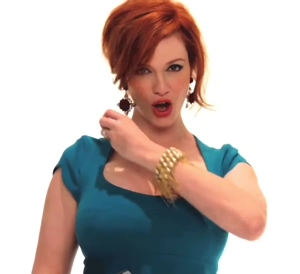 How roughly would you facefuck Christina Hendricks?