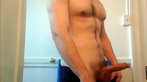 hot guy pulls out cock, watch it grow