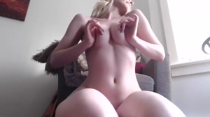 Attractive Woman Plays With Boobs