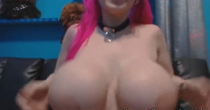 Amazingly huge fake nerd tits