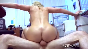 Hot blonde milf with big tits and big ass Sexually Harassed