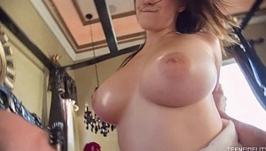 Swinging heavy tits - Noelle Easton