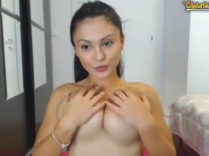 Cutie Licking Her Tits