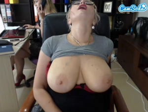 Tits out in the office!
