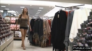 Flashing in a clothing store