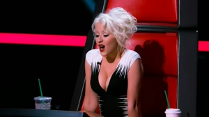 Christina Aguilera really brought in the plot for The Voice