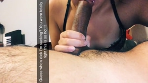 Showed off sucking my brother's cock 👅👀