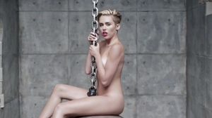 Miley Cyrus Naked for Wrecking Ball Music Video