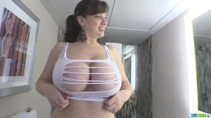 So Busty, She Can't Wear Regular Clothes