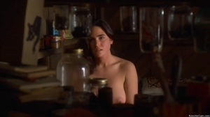 Busty Jennifer Connelly showing her awesome tits in Inventing the Abbotts