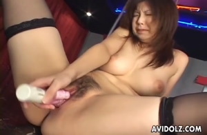 Strippers pussy with a toy