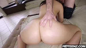 Busty Asian Rides Dick