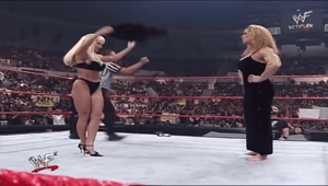 Nicole Bass scares Debra McMichael right out of her evening gown!