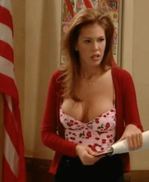 Couldn't watch an episode of Unhappily Ever After without getting hard for Nikki Cox' big boobs.