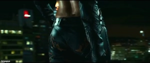 Halle Berry fit leather plot in Cat Woman