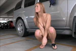 Horny Nudist in the Parking Lot