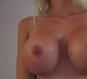 Perfect fake tits blonde