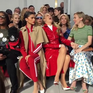 Zendaya, Blake Lively, and Emily Blunt at a Fashion Show