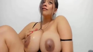 I love how heavy and juicy her tits are