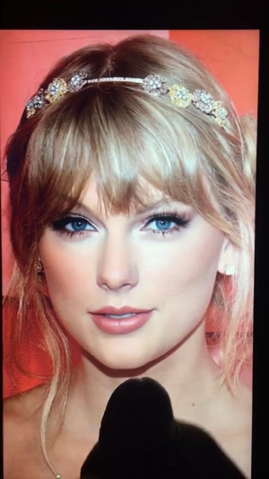 Taylor Swift takes my BIG LOAD OF HOT CUM to her gorgeous face!!!