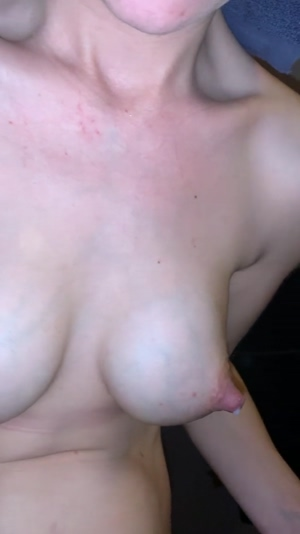 Her tits dripping on their own