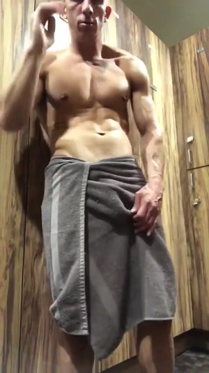 The hung stud at the gym
