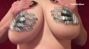 Kick Off Halloween Month With Spooky Tit Worship/Boob Bouncing!