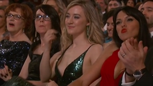 Saoirse Ronan exposed boob from Oscars in GIF!