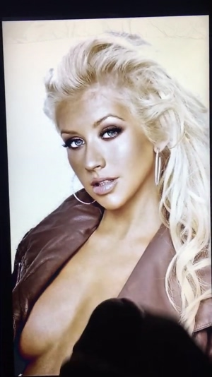 Christina Aguilera makes my cock EXPLODE A HUGE LOAD all over her sexy face!!!