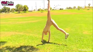 Acrobatics without panties