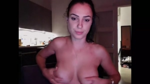 Perfect babe shows perfect tits