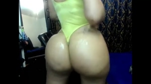 Oiled up fake booty
