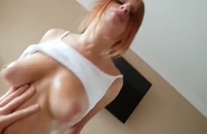 Redhead Babe With Nice Tits