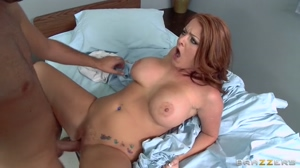 Sophie Dee fucked on a bed