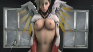 Mercy riding PoV cowgirl. Virtual reality/devil variant/ sound in comment