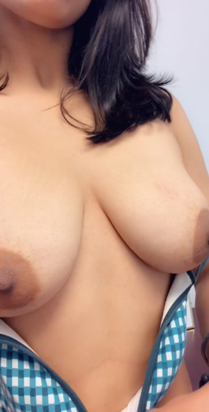 Cum play with my big brown titties!