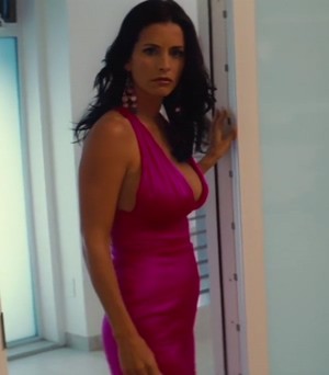 courteney cox's cleavage in the longest yard
