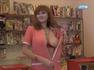 Lidiya Krasnoruzheva flashing huge boobs