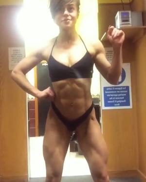 Abigail Gould flexing for the camera.