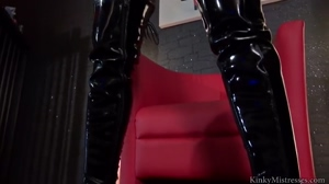 Busty Domme Aileen Taylor with a Big Black Strapon