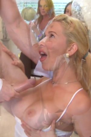 She's Super Excited For Cum On Her Tits