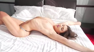Cute 18 year old on bed