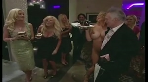 Pamela Anderson completely nude at Hugh Hefner's birthday party