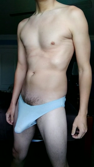 Tall guy with a bulge